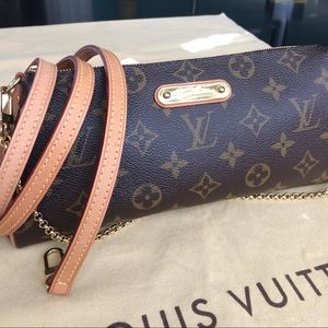 Authentic LV Eva Clutch/Crossbody Monogram